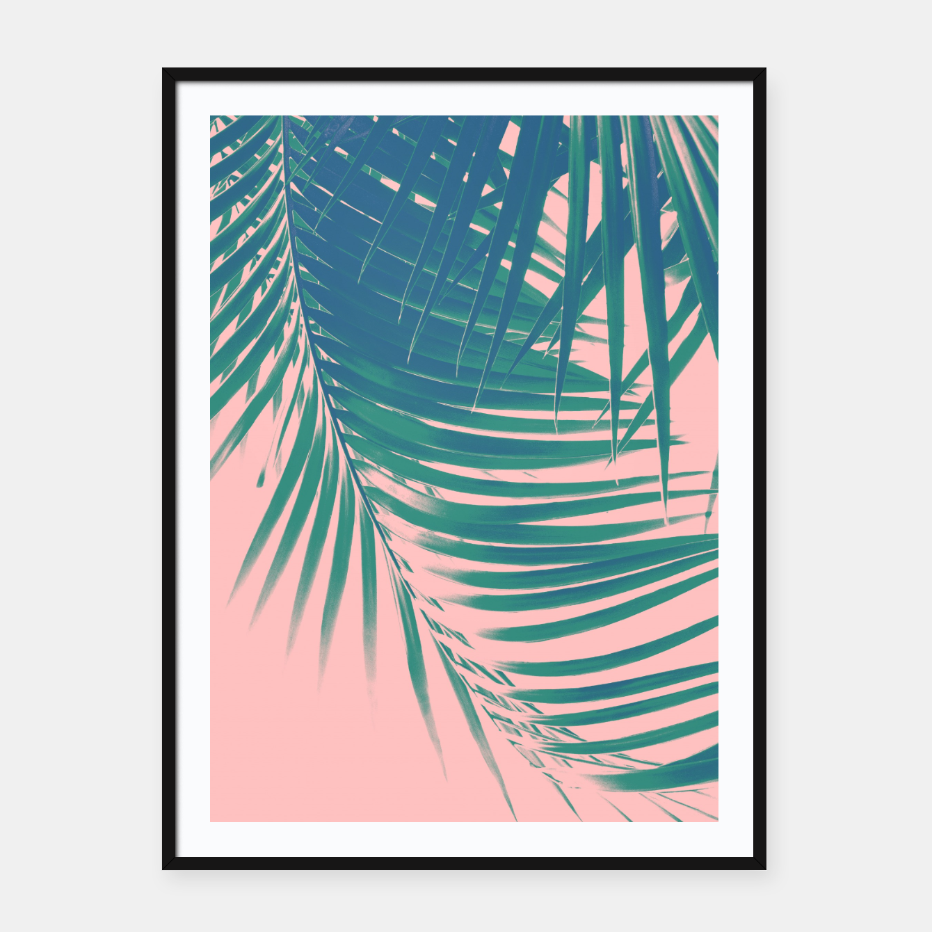 Zdjęcie Palm Leaves Blush Summer Vibes #2 #tropical #decor #art Plakat mit rahmen - Live Heroes