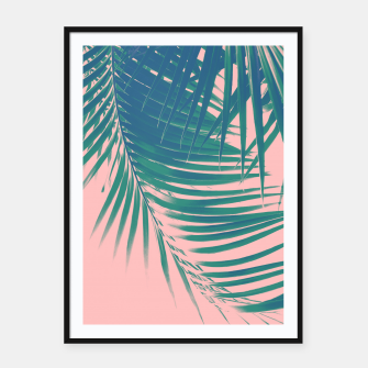 Palm Leaves Blush Summer Vibes #2 #tropical #decor #art Plakat mit rahmen obraz miniatury