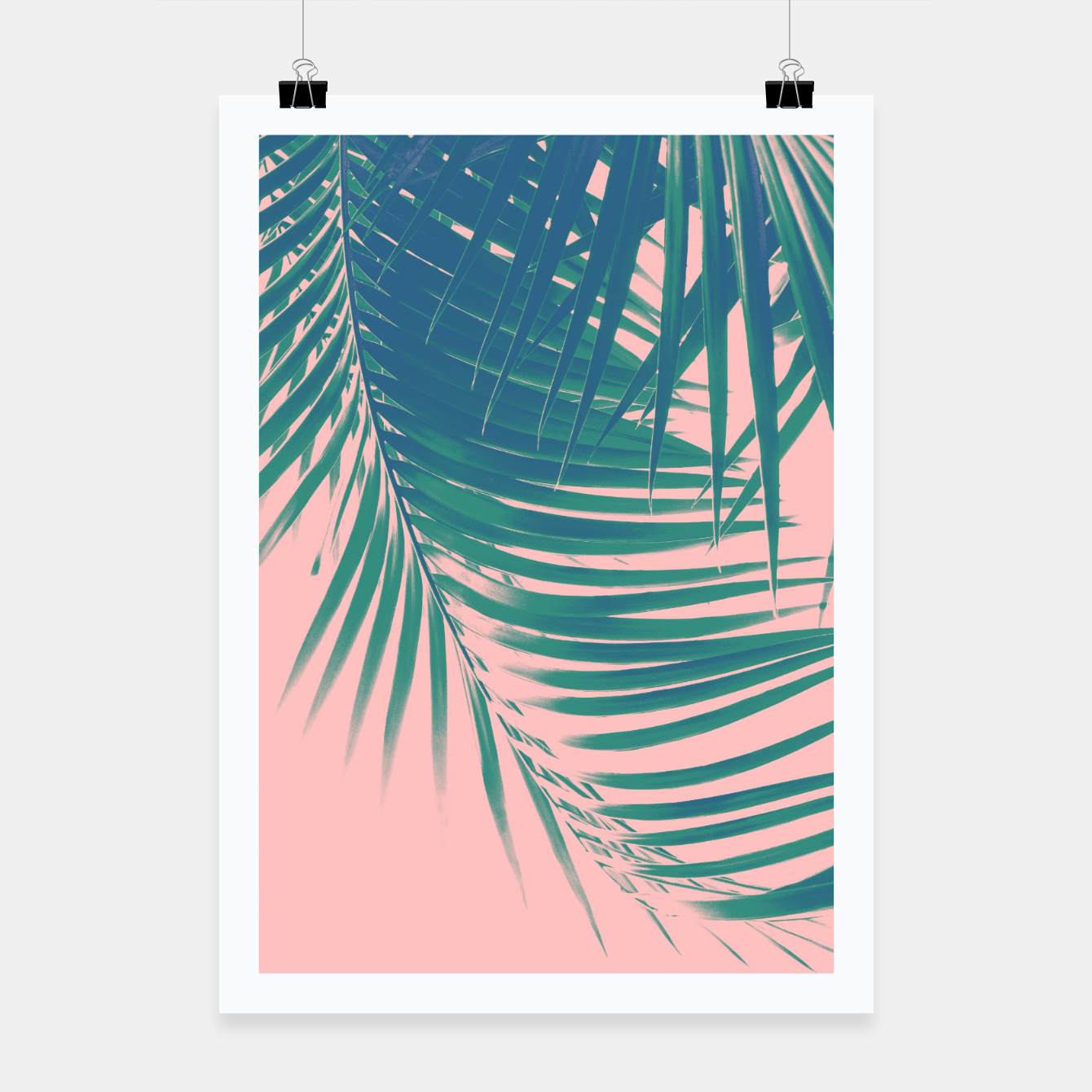 Foto Palm Leaves Blush Summer Vibes #2 #tropical #decor #art Plakat - Live Heroes