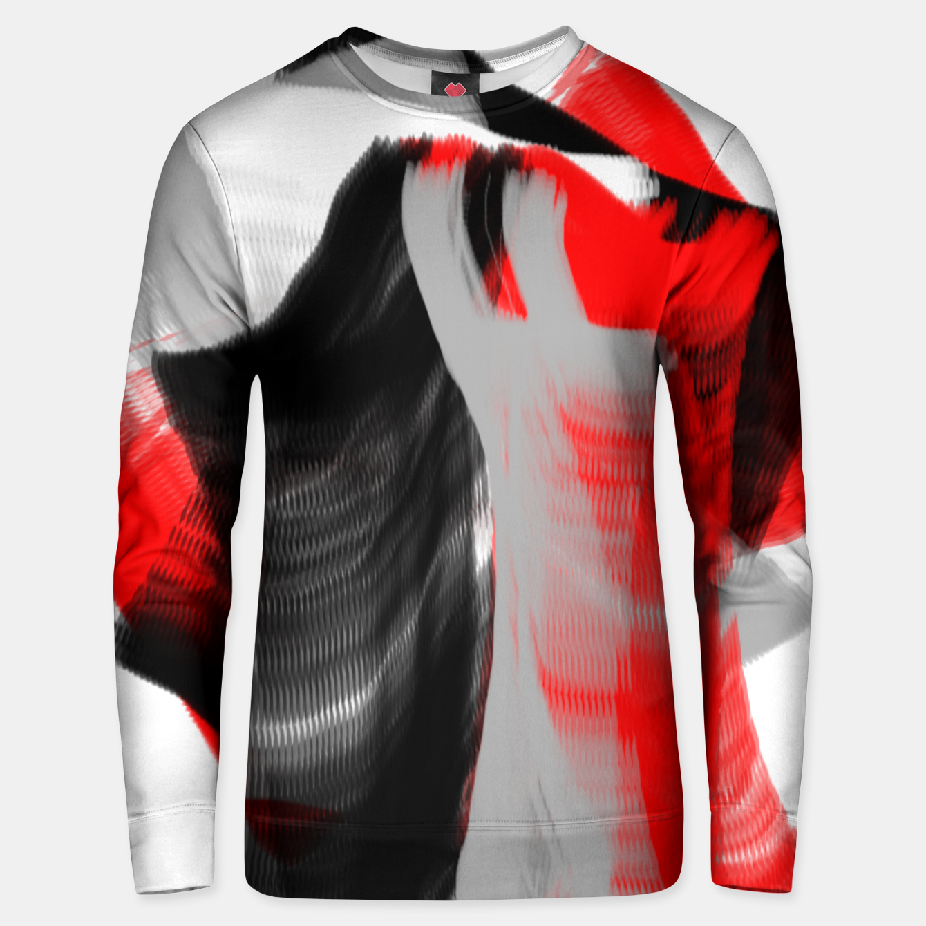 Image of dancing abstract digital painting Unisex sweater - Live Heroes