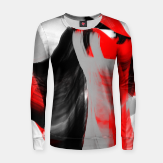 Miniatur dancing abstract digital painting Women sweater, Live Heroes