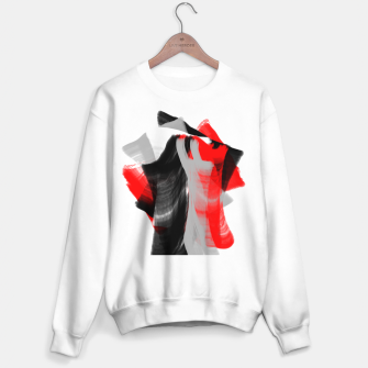 Miniatur dancing abstract digital painting Sweater regular, Live Heroes