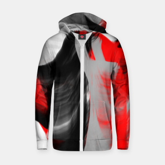 Thumbnail image of dancing abstract digital painting Zip up hoodie, Live Heroes