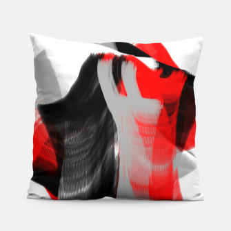 Miniatur dancing abstract digital painting Pillow, Live Heroes