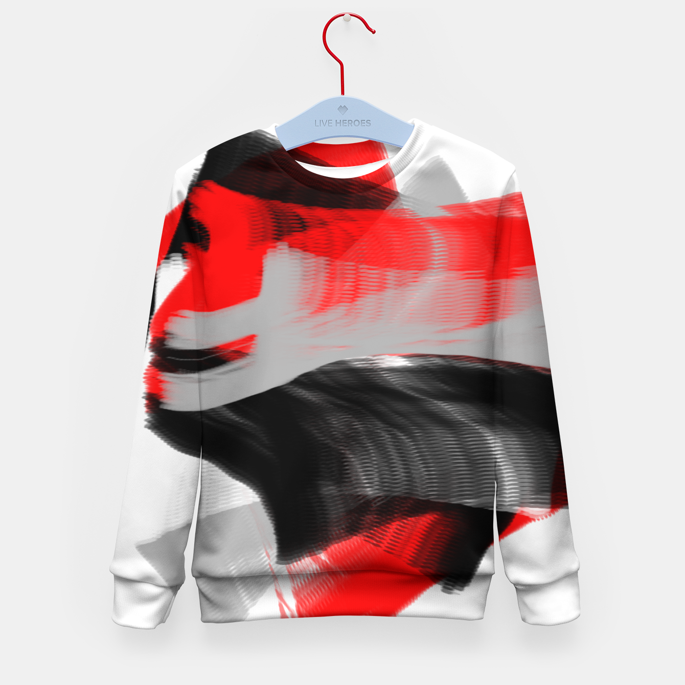 Image of dancing abstract digital painting Kid's sweater - Live Heroes