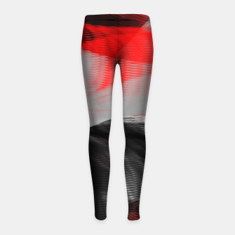 Miniatur dancing abstract digital painting Girl's leggings, Live Heroes