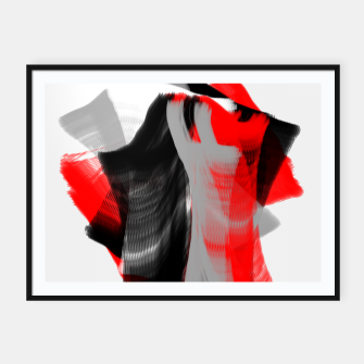 Thumbnail image of dancing abstract digital painting Framed poster, Live Heroes