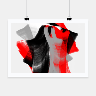 dancing abstract digital painting Poster Bild der Miniatur