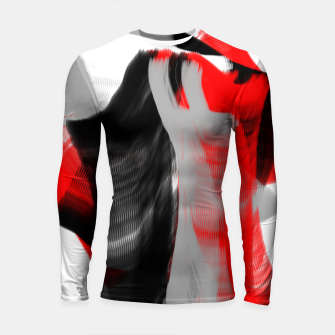 Miniatur dancing abstract digital painting Longsleeve rashguard , Live Heroes