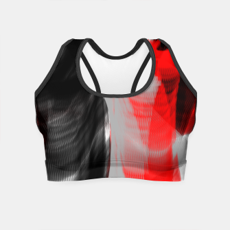 Miniatur dancing abstract digital painting Crop Top, Live Heroes