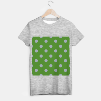 Imagen en miniatura de Vintage grey dots on green Camiseta Regular, Live Heroes