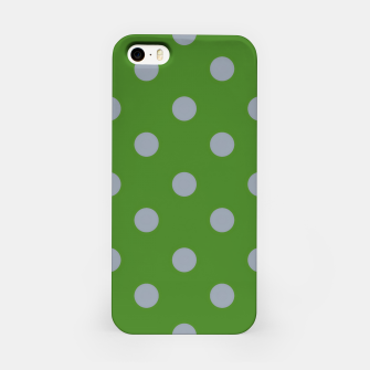 Imagen en miniatura de Vintage grey dots on green Carcasa por Iphone, Live Heroes