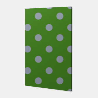 Imagen en miniatura de Vintage grey dots on green Canvas, Live Heroes