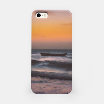 Miniatur Seascape Sunset at Jericoacoara, Ceara, Brazil iPhone Case, Live Heroes