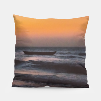 Miniatur Seascape Sunset at Jericoacoara, Ceara, Brazil Pillow, Live Heroes