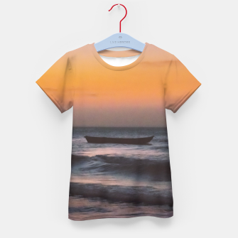 Miniatur Seascape Sunset at Jericoacoara, Ceara, Brazil Kid's t-shirt, Live Heroes