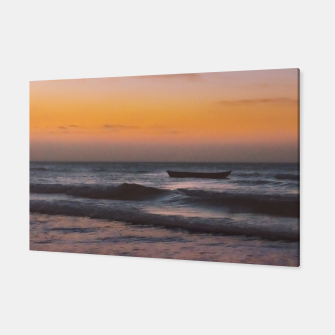 Miniatur Seascape Sunset at Jericoacoara, Ceara, Brazil Canvas, Live Heroes