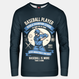 Thumbnail image of BASEBALL PLAYER - World Champion League. Unisex sweater, Live Heroes