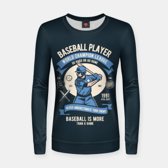 Thumbnail image of BASEBALL PLAYER - World Champion League. Women sweater, Live Heroes