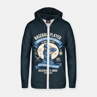 Thumbnail image of BASEBALL PLAYER - World Champion League. Zip up hoodie, Live Heroes