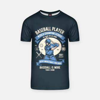 Thumbnail image of BASEBALL PLAYER - World Champion League. T-shirt, Live Heroes