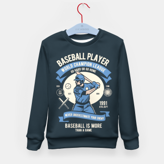 Miniatur BASEBALL PLAYER - World Champion League. Kid's sweater, Live Heroes