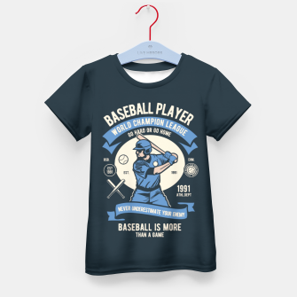 Miniatur BASEBALL PLAYER - World Champion League. Kid's t-shirt, Live Heroes