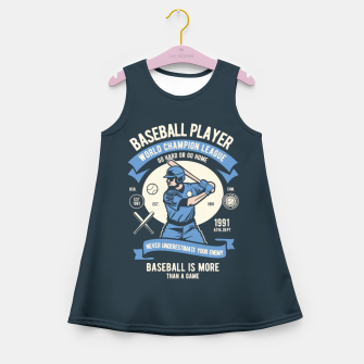 Thumbnail image of BASEBALL PLAYER - World Champion League. Girl's summer dress, Live Heroes