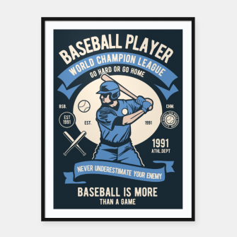 Thumbnail image of BASEBALL PLAYER - World Champion League. Framed poster, Live Heroes