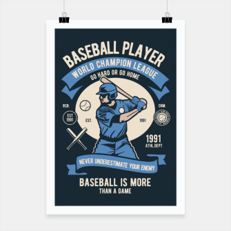 Thumbnail image of BASEBALL PLAYER - World Champion League. Poster, Live Heroes