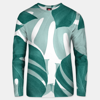 Monstera Leaves Vibes #1 #tropical #foliage #decor #art Unisex sweatshirt obraz miniatury
