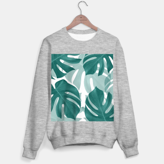Monstera Leaves Vibes #1 #tropical #foliage #decor #art Sweatshirt regulär obraz miniatury