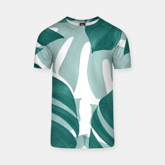 Monstera Leaves Vibes #1 #tropical #foliage #decor #art T-Shirt obraz miniatury