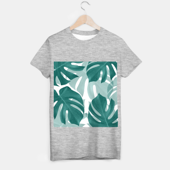 Monstera Leaves Vibes #1 #tropical #foliage #decor #art T-Shirt regulär obraz miniatury