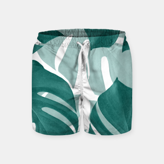Monstera Leaves Vibes #1 #tropical #foliage #decor #art Badeshorts obraz miniatury