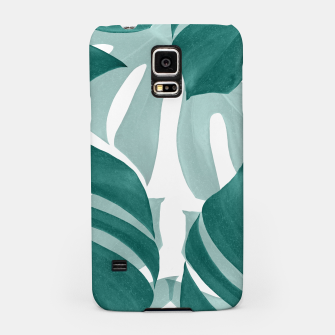 Thumbnail image of Monstera Leaves Vibes #1 #tropical #foliage #decor #art Handyhülle für Samsung, Live Heroes