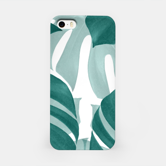 Monstera Leaves Vibes #1 #tropical #foliage #decor #art iPhone-Hülle obraz miniatury