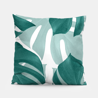 Thumbnail image of Monstera Leaves Vibes #1 #tropical #foliage #decor #art Kissen, Live Heroes