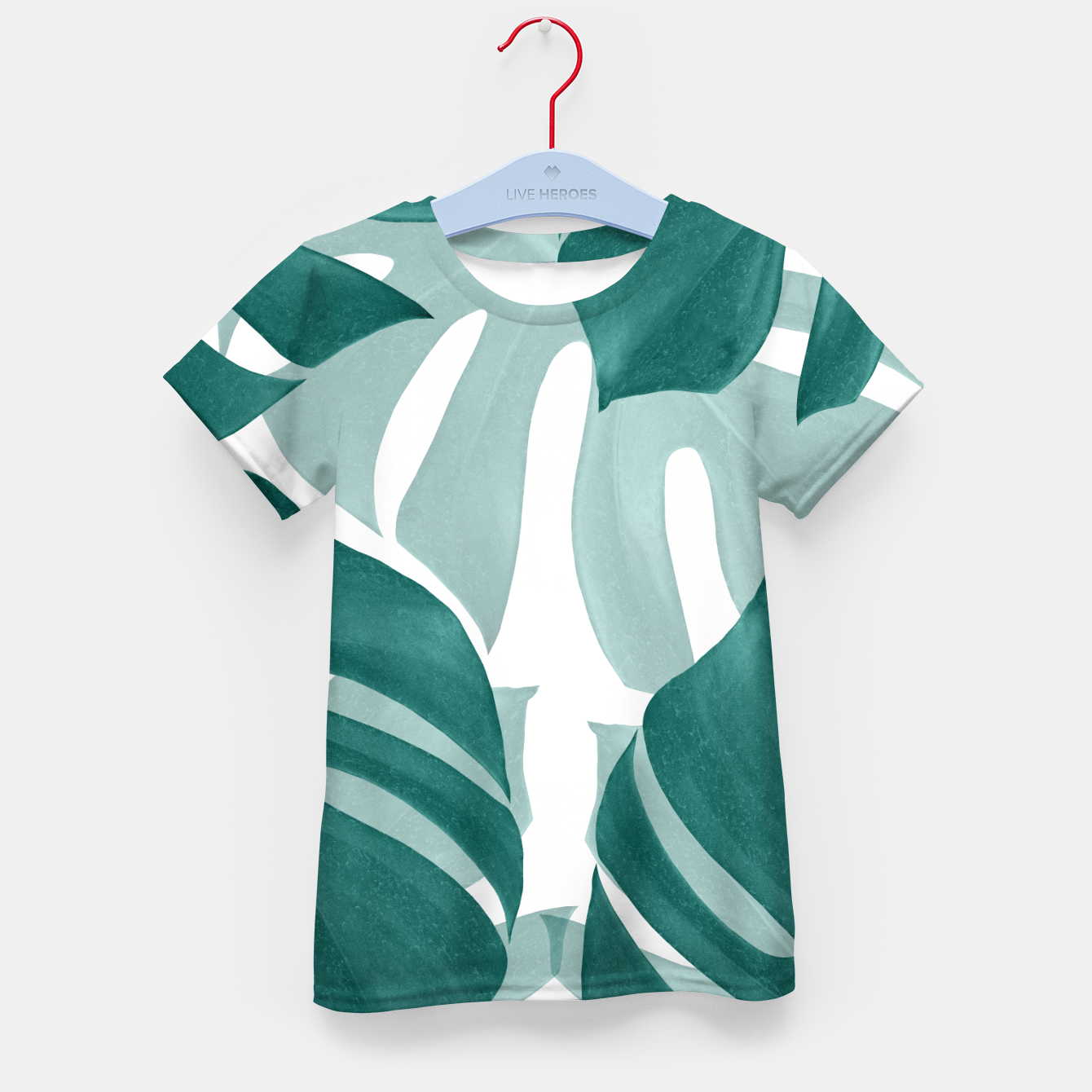 Zdjęcie Monstera Leaves Vibes #1 #tropical #foliage #decor #art T-Shirt für kinder - Live Heroes