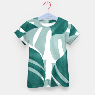 Thumbnail image of Monstera Leaves Vibes #1 #tropical #foliage #decor #art T-Shirt für kinder, Live Heroes