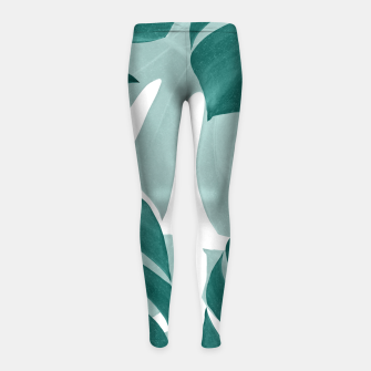 Miniaturka Monstera Leaves Vibes #1 #tropical #foliage #decor #art Kinder-Leggins, Live Heroes