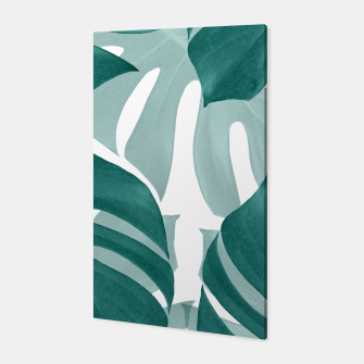 Monstera Leaves Vibes #1 #tropical #foliage #decor #art Canvas obraz miniatury