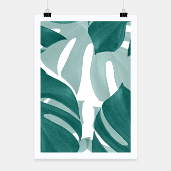 Thumbnail image of Monstera Leaves Vibes #1 #tropical #foliage #decor #art Plakat, Live Heroes