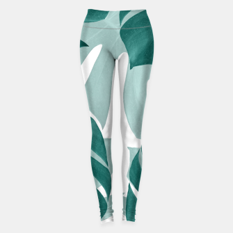 Monstera Leaves Vibes #1 #tropical #foliage #decor #art Leggings obraz miniatury