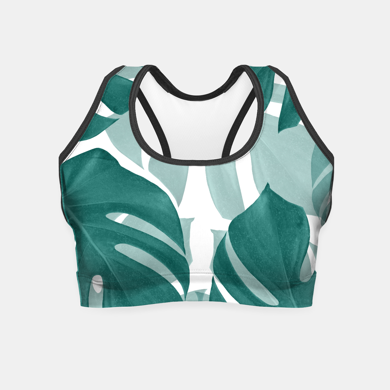 Zdjęcie Monstera Leaves Vibes #1 #tropical #foliage #decor #art Crop Top - Live Heroes