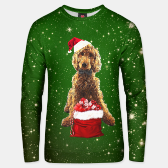 Thumbnail image of Christmas Dog Golden Doodle Unisex sweater, Live Heroes