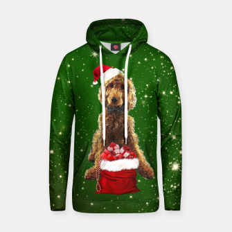 Thumbnail image of Christmas Dog Golden Doodle Hoodie, Live Heroes