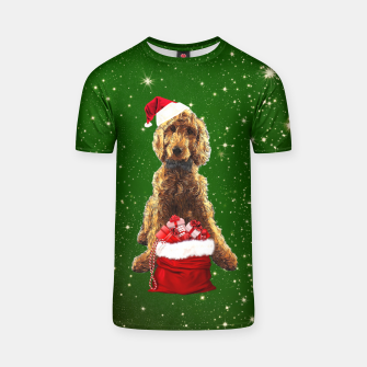 Thumbnail image of Christmas Dog Golden Doodle T-shirt, Live Heroes
