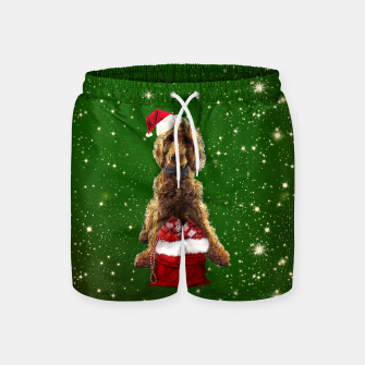 Thumbnail image of Christmas Dog Golden Doodle Swim Shorts, Live Heroes