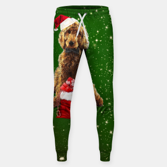 Thumbnail image of Christmas Dog Golden Doodle Sweatpants, Live Heroes